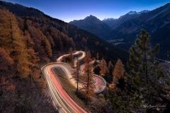Lichtspuren am Malojapass - ©Christiane Dreher
