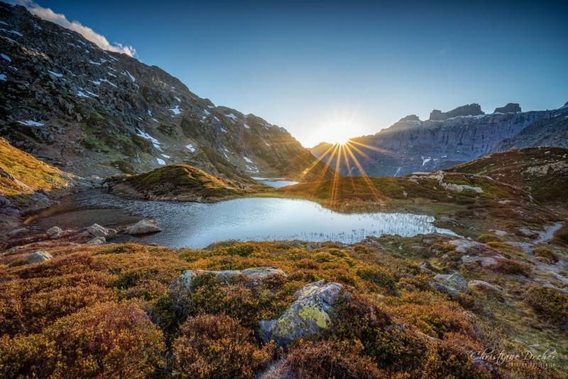 Sonnenuntergang auf dem Sustenpass - ©Christiane Dreher