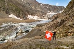 Steingletscher im August 2019 zum Vergleich  - ©Christiane Dreher