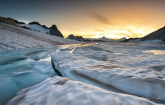 Sonnenuntergang Chüebodengletscher - ©Christiane Dreher