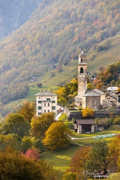 Kirche von Soglio im Bergell - ©Christian Züger
