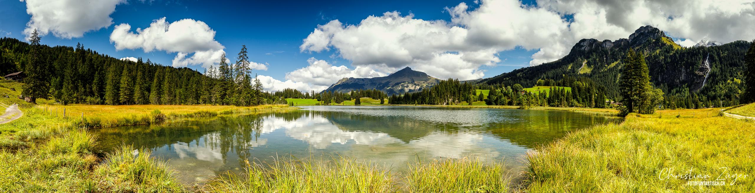 Berge, Bergsee, Format, Fototechnik, Landschaft, Lauenensee, Panorama, Umwelt, Vermerk